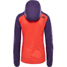 The North Face Flyweight Hoodie Women Fire Brick Red/Galaxy Purple